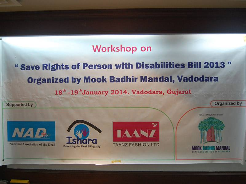 Workshop On Save Right Disabilities Bill