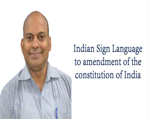 Indian Sign Language to Amendment of the Constitut